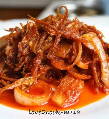 Sambal Ikan Bilis (Anchovies in Spicy Gravy)...