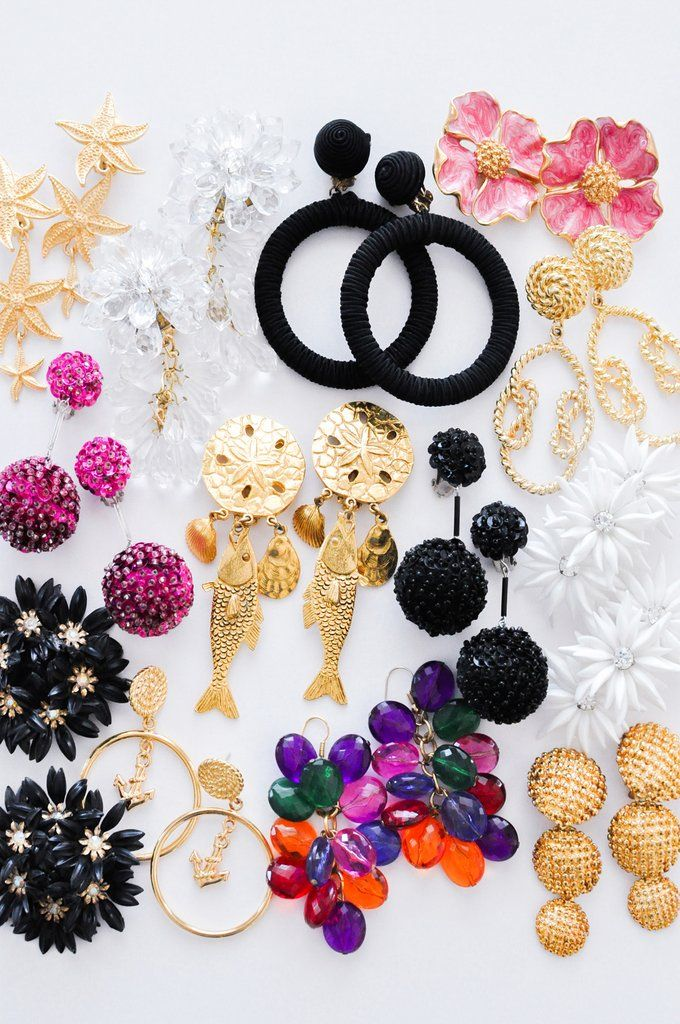 Colorful Dangle Earrings Clip On Earrings Clip On Earrings Summer Jewelry For Women Spring Jewelry Vintage Earrings