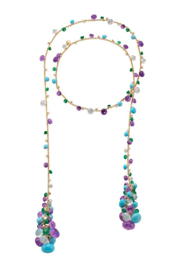 bulgari...>>>My mother, an artist, made a necklace for me just like this (except she used black silk cord).  Around 25 years ago.