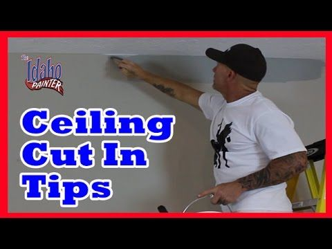how to cut in paint at ceiling