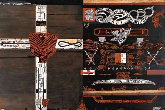 Shane Cotton visual artist onzm Ngāt Rāng hine and te uri taniwha, the arts foundation, 2012, Matauranga maori is a newly established phrase created to describe the information/impact or knowledge…