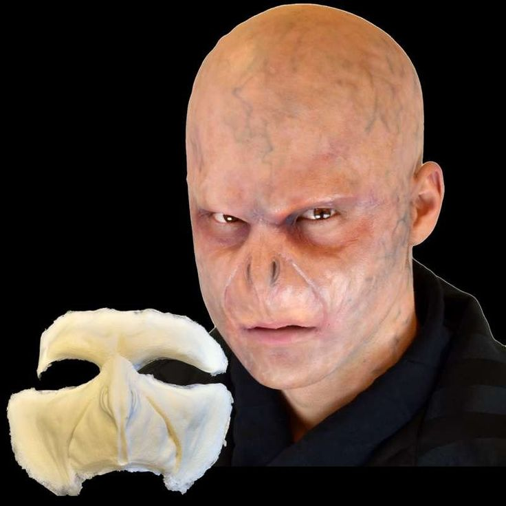 Voldemort inspired professional makeup FX appliance mask. It is made of foam latex and is professionally designed by makeup artists. When applied it moves with your expressions just like professional