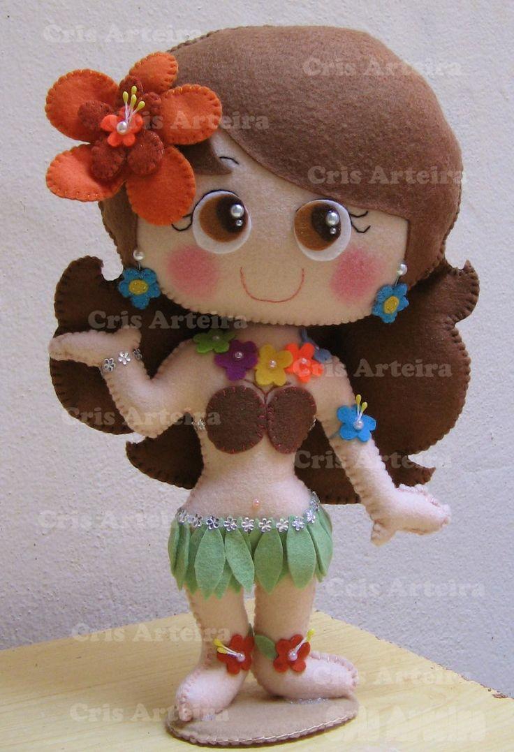 Boneca Havaiana - 30 cm | Cris Arteira | Elo7