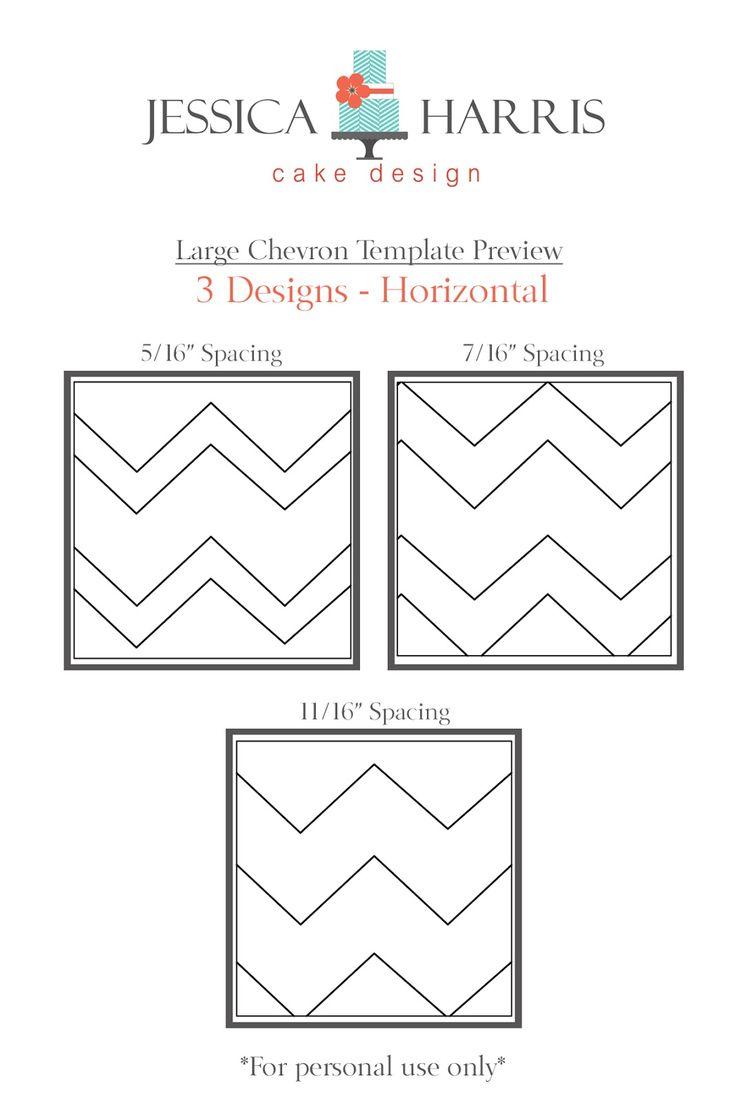 Jessica Harris Cake Design: Template Tuesday!! - Chevron Cake Design