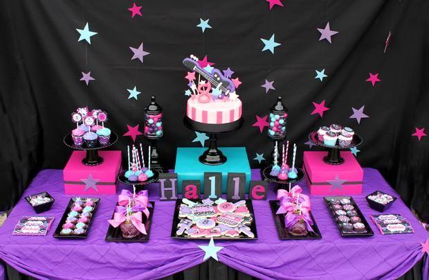 Fazendo a Minha Festa Infantil: Ideias para uma Festa Rockstar Preto e Pink!