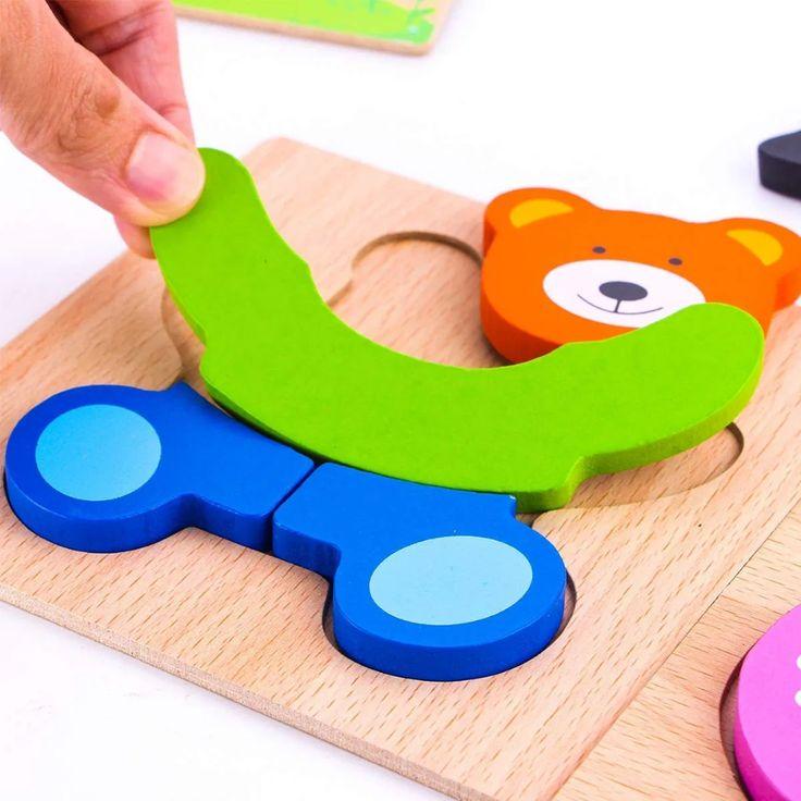 Felly Holzpuzzle Baby Holzspielzeug Ab 1 2 3 Jahren 4 Stuck Steckpuzzle Holz Spielzeug Fur Jungs Madchen Tier Lernspielzeug In 2020 Spielzeug Fur Jungs Holzspielzeug