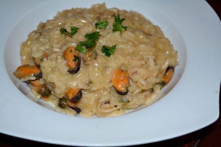 Tenger gyümölcse rizottó - Seafruit risotto