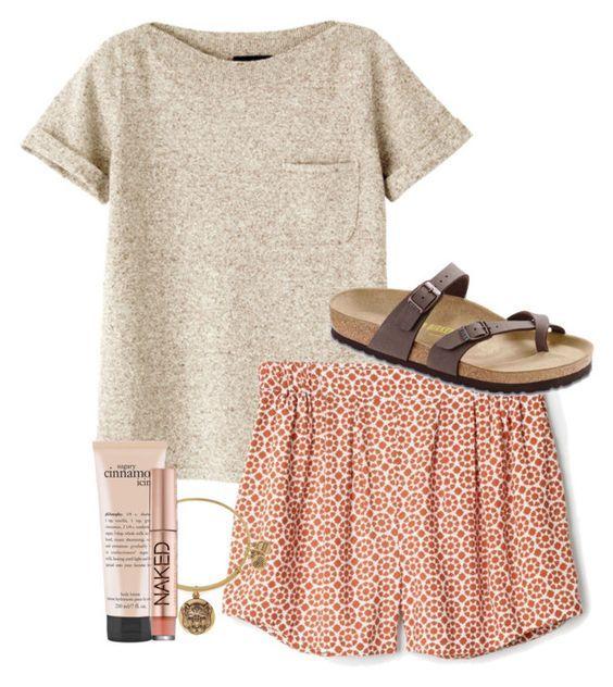 #summer #outfits / hem shorts +pocket t shirt