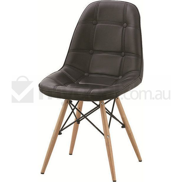 Best 25 eames dining ideas on pinterest small round for Leather eames dining chair