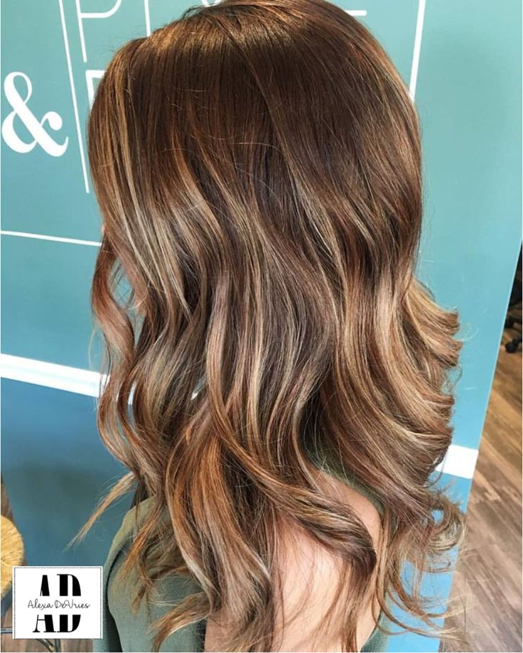@alexachristinedevries beautful brown balayage on medium to long hair, cool toned/ carmel toned blonde on ends, textured layers