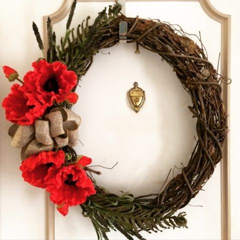 I went to Hobby Lobby the other day and bought a bunch of supplies to make a wreath. Actually, I bought a TON of supplies! (Flowers we...