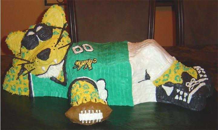 Jacksonville Jaguar Mascot Birthday Cake