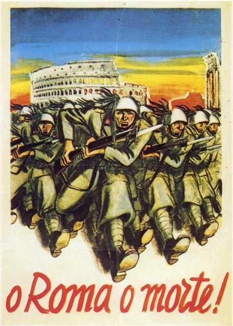 "Italian WW2 ""Rome or death"""