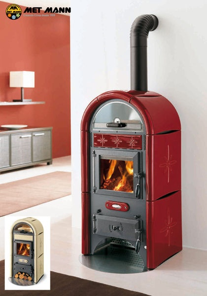 Retro Wood Burning Stove With Oven Eco Sole By Met Mann