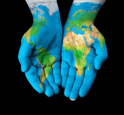 The world is in your hands.