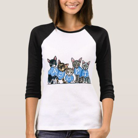 Adopt Shelter Cats T-Shirt - click to get yours right now!