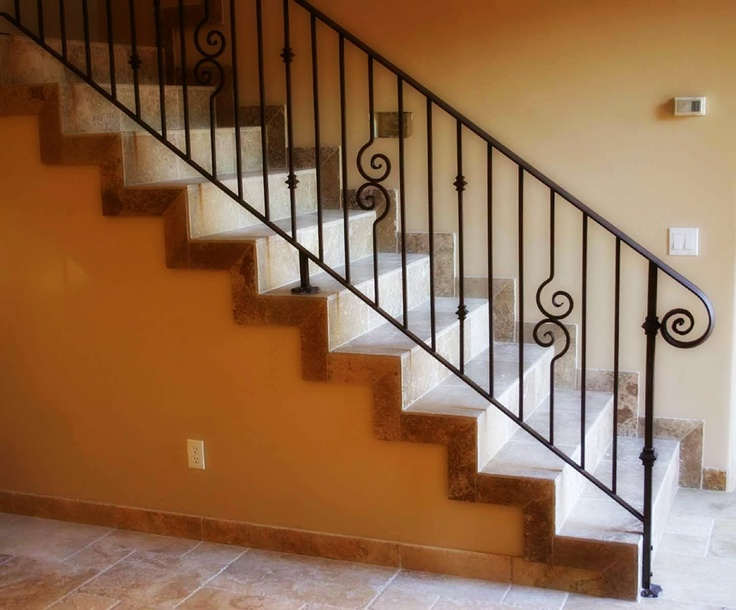 Wrought Iron Stair Railings | Wrought Iron Railings Wrought Iron Handrails  درابزين ستيل .