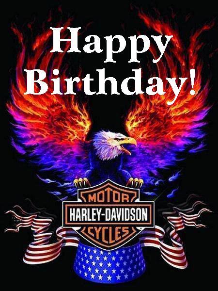 Happy Birthday Harley Davidson Eagle