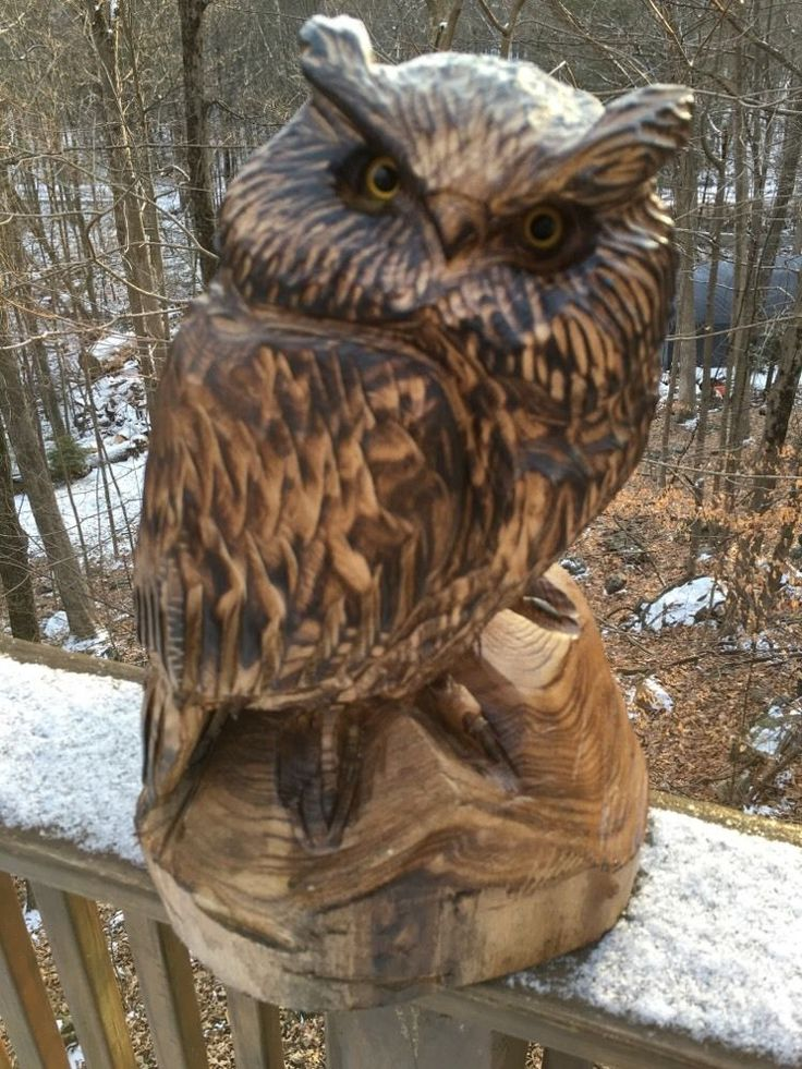 Best wooden owl carvings images on pinterest carved