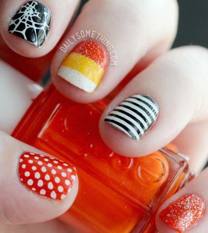 25 spooky simple halloween nail art ideas - Easy Cute Halloween Nail Designs