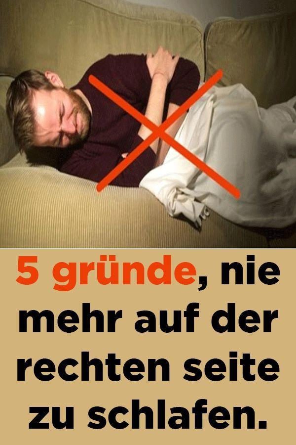 5 gründe, nie mehr auf der rechten seite zu schlafen
