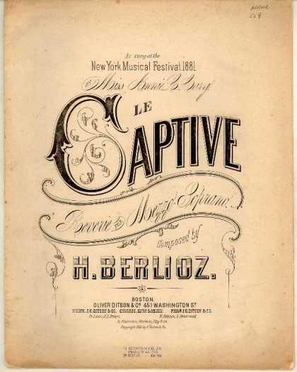 Sheet Music - Captive; Reverie for mezzo-soprano
