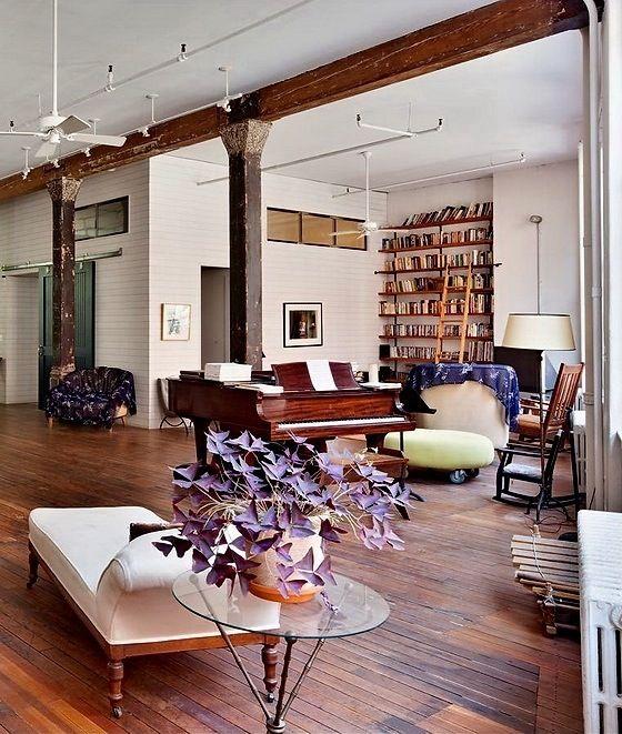 Un loft rustique et bohème à New York