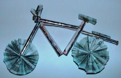 Die Bastel-Elfe, alles rund ums Basteln - Geldgeschenk für ein Fahrrad