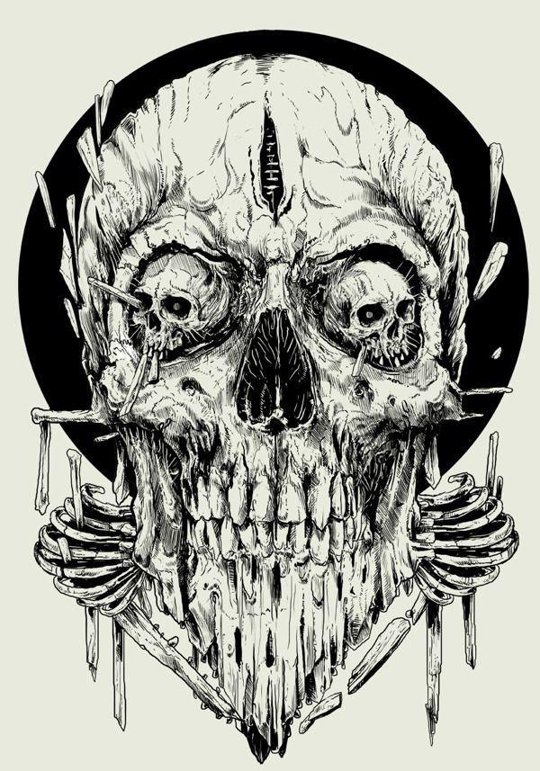 look me in the eye by rafal wechterowicz via behance drawing skulls illustration pinterest. Black Bedroom Furniture Sets. Home Design Ideas