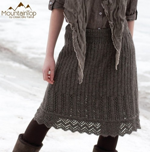 Just learnt from this description that the alpaca content in the yarn stops the skirt from 'seating'!!! Thats great news...no sewing linings....