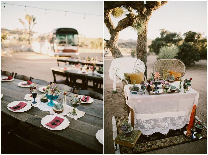 Karina and Jonathan's 'Home' Themed Retro Boho California DesertWedding by Westlund Photography