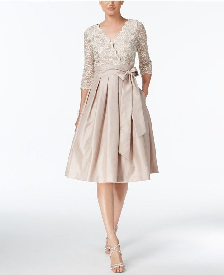 84a08413d7a Jessica Howard Lace Taffeta Fit   Flare Dress  affiliate  oybpinners ...