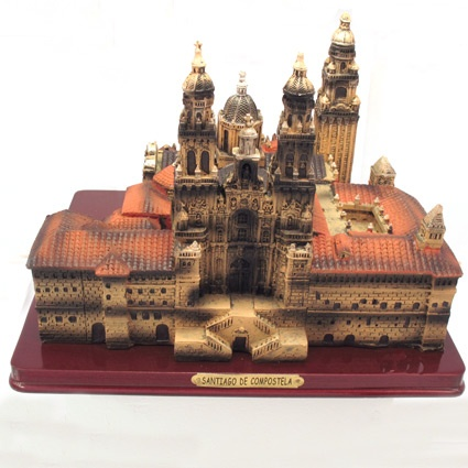 3d reproduction of the Cathedral of Santiago de Compostela. Souvenir of The Way of St.James. Tax free $57.90