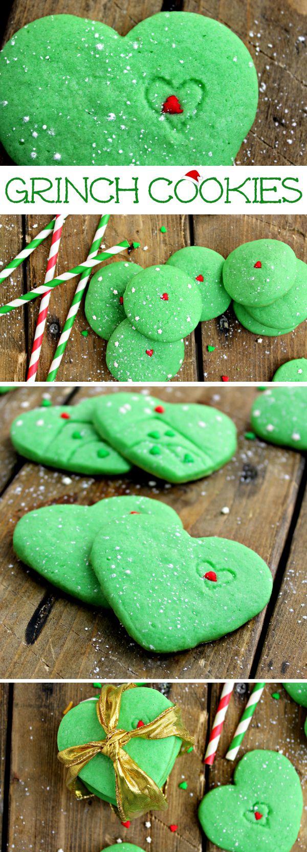 Super Easy Grinch Sugar Cookies! Fun kid friendly holiday recipe