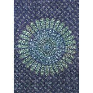 allthingspeacock.com - Peacock Tablecloth, or wall hanging, or bedspread!