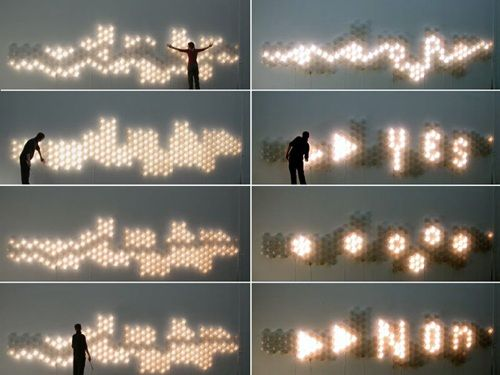 Modular light system for architecture, which reacts to the electromagnetic fields generated by touch.