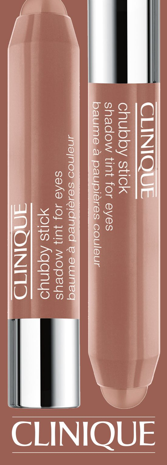 Lightweight, creamy colour for eyes. #Clinique Chubby Stick For Eyes in Ample Amber.