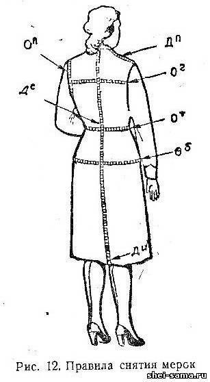 2)Правила снятия мерок/Правила составления чертежей выкроек/Правила прибавления на швы - Шейте сами  - Всё о шитье