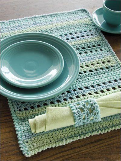 Crochet - Kitchen Patterns - Table Toppers - Pacific Place Setting ✿⊱╮Teresa Restegui http://www.pinterest.com/teretegui/✿⊱╮