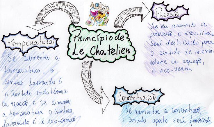 Vem ver esse mapa mental maneiro, que vai te ajudar a conferir todos os conceitos importante sobre o Princípio de Le Chatelier!