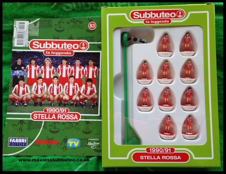 Subbuteo teams la leggenda Red Star belgrade 1990
