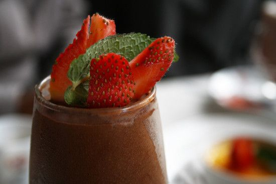 Raw Chocolate Mousse with Fresh Berries