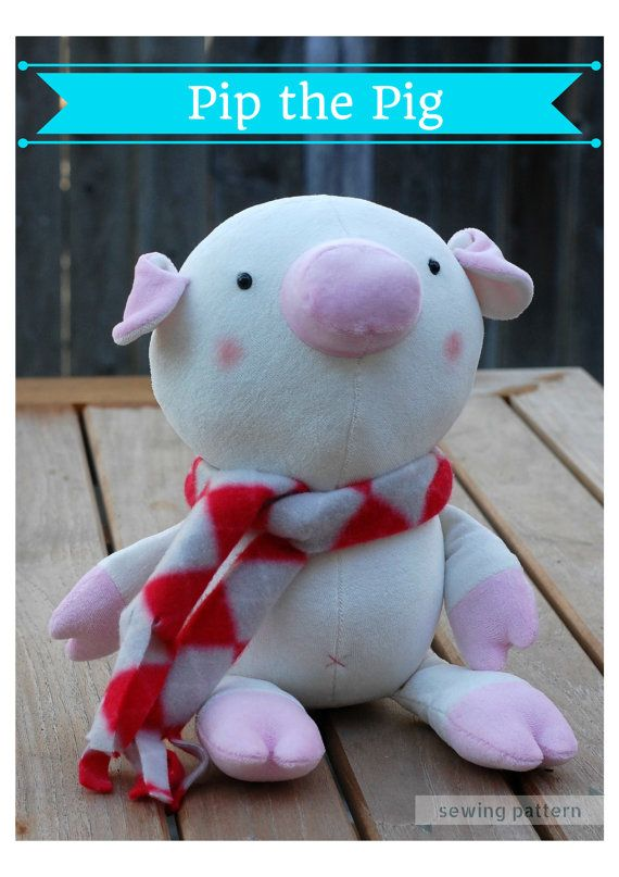 Pip the Pig  PDF Sewing Pattern With Step-by-Step by whileshenaps