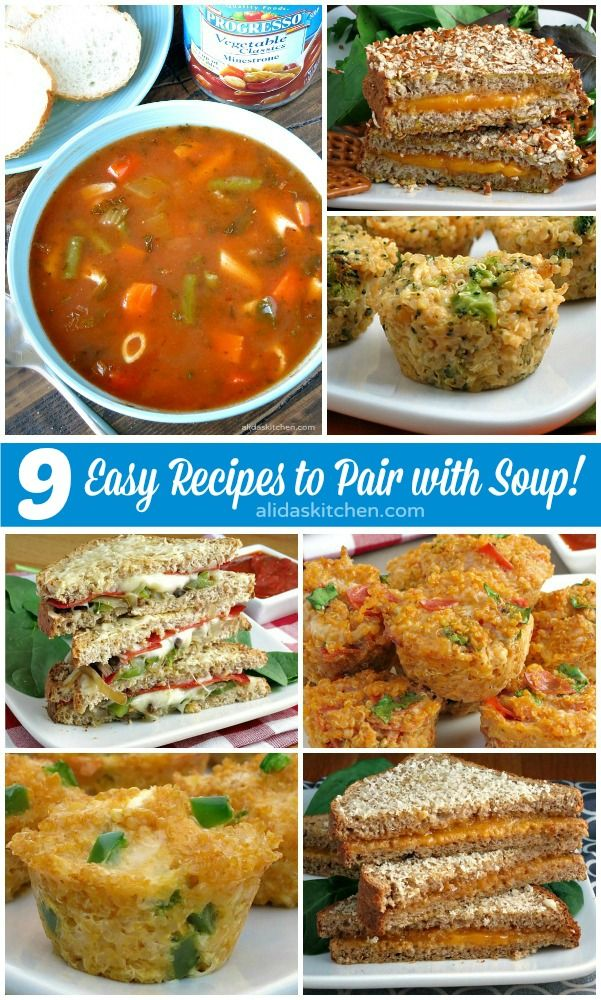 9 easy recipes to pair with @Progresso soups for a satisfying, simple lunch or dinner for the whole family #ProgressoSoup AD