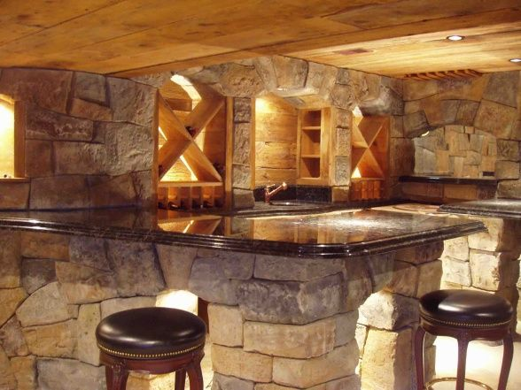 stone basement low ceiling ideas basement bar pinterest