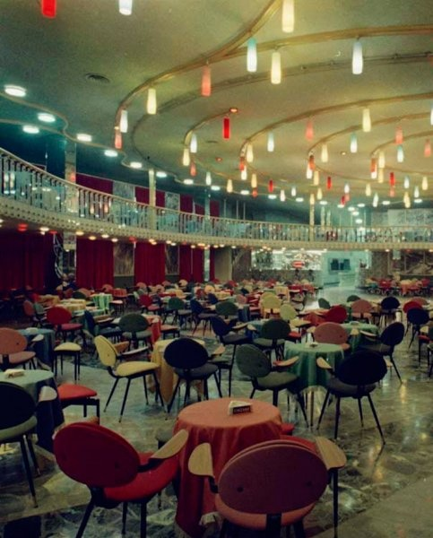Lutrario nightclub, in Torino, was designed in 1959 by Italian architect & designer Carlo Mollino