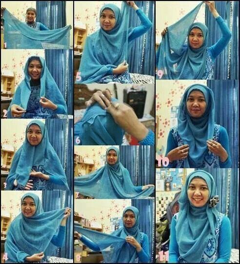 Hijab pesta dengan jilbab paris