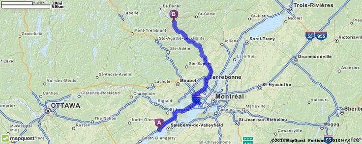 Driving Directions from Saint-Zotique, Quebec to Notre-Dame-De-La-Merci, Quebec | MapQuest