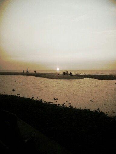 Sunset Bandengan Beach, Jepara road trip