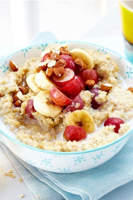 Quinoa-Porridge mit Trauben und Banane – Frühstück – die besten Rezepte
